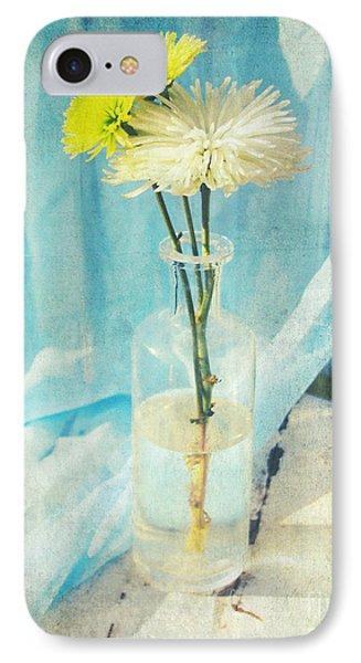 Vintage Flowers In A Bottle Vase Sunny Still Life Print IPhone Case by Svetlana Novikova
