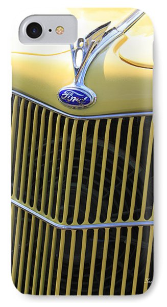 Vintage Ford V8 Grill Phone Case by Suzanne Gaff