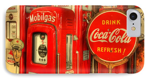 Vintage Gasoline Pumps 2 Phone Case by Bob Christopher