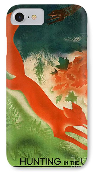 Vintage Hunting In The Ussr Travel Poster Phone Case by George Pedro