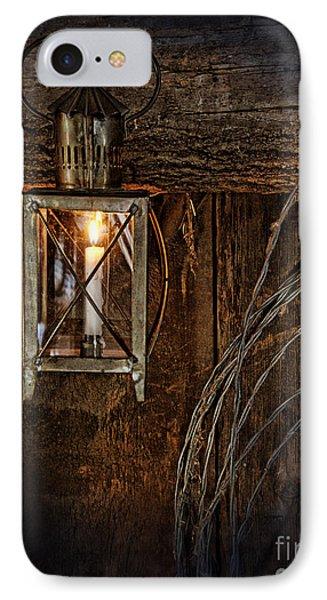 Vintage Lantern Hung In A Barn Phone Case by Jill Battaglia