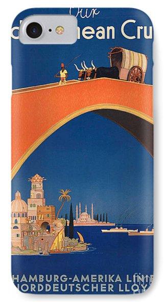 Vintage Mediterranean Travel Poster Phone Case by George Pedro