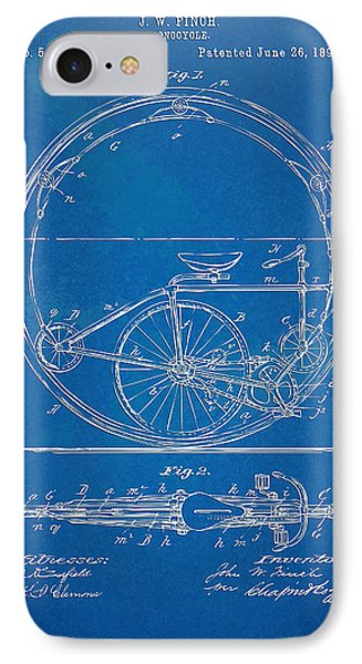 Vintage Monocycle Patent Artwork 1894 Phone Case by Nikki Marie Smith
