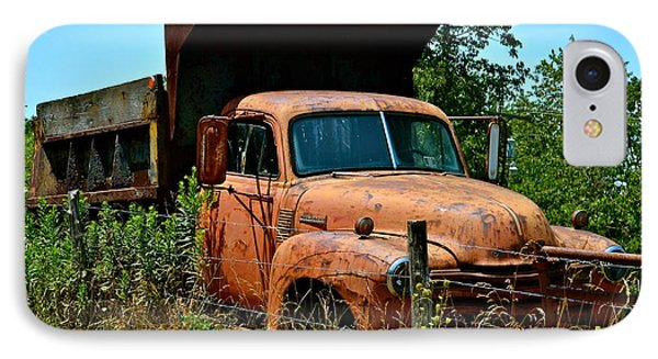 IPhone Case featuring the photograph Vintage Old Time Truck by Peggy Franz