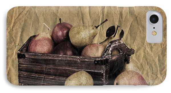 Vintage Pears Phone Case by Jane Rix