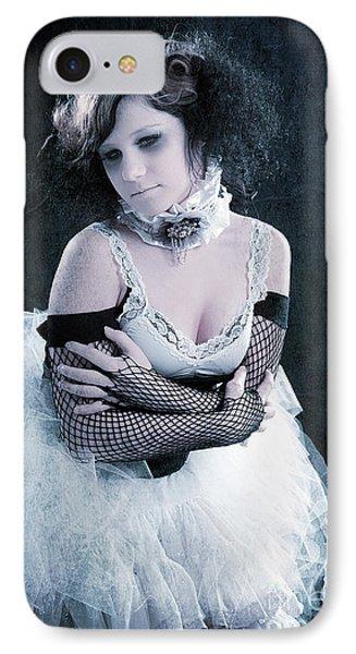 Vintage Portrait Of A Dancer Phone Case by Cindy Singleton
