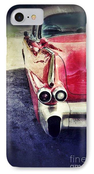 Vintage Red Car Phone Case by Jill Battaglia