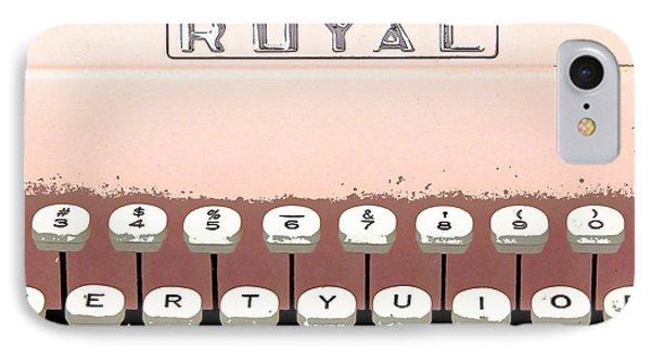 Vintage Royal Typewriter Phone Case by Glennis Siverson