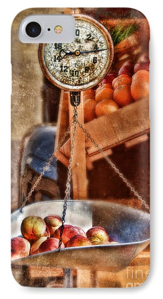Vintage Scale At Fruitstand Phone Case by Jill Battaglia