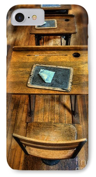 Vintage School Desks Phone Case by Jill Battaglia