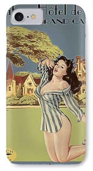 Vintage Travel Poster The Grand Castle Phone Case by Cinema Photography