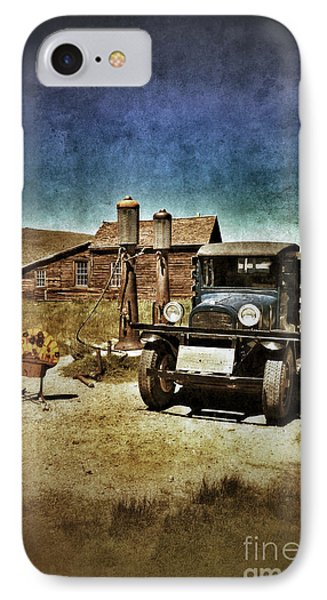 Vintage Vehicle At Vintage Gas Pumps Phone Case by Jill Battaglia