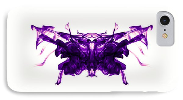 Violet Abstract Butterfly Phone Case by Sumit Mehndiratta