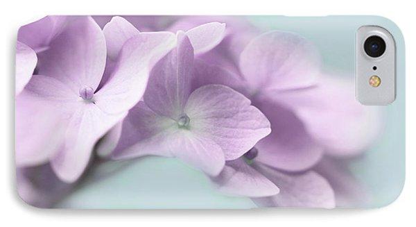 Violet Hydrangea Flower Macro IPhone Case by Jennie Marie Schell