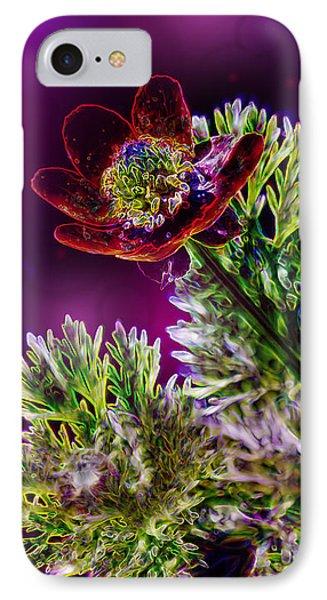 Violet Labialize Flora Phone Case by Bill Tiepelman