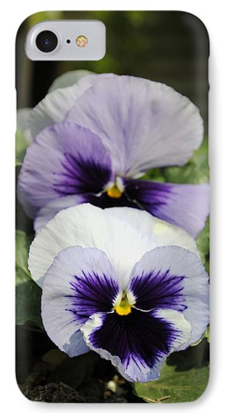 Violet Pansies Flower IPhone Case by Sumit Mehndiratta