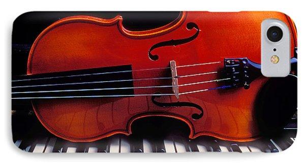 Violin On Piano Keys Phone Case by Garry Gay