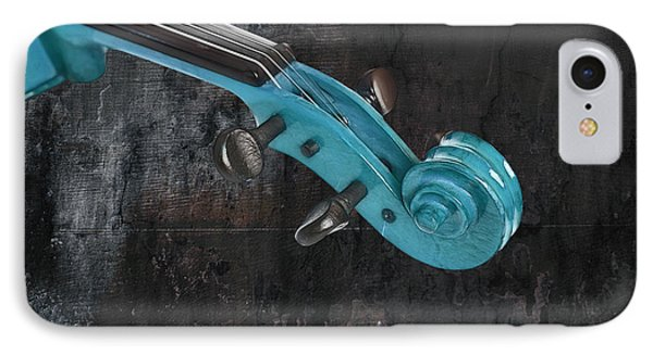 Violinelle - Turquoise 05a2 Phone Case by Variance Collections
