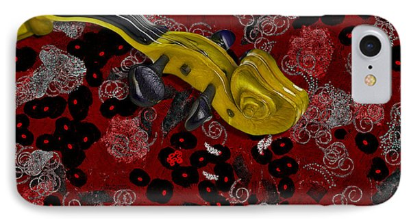 Violinelle - V02-12a Phone Case by Variance Collections