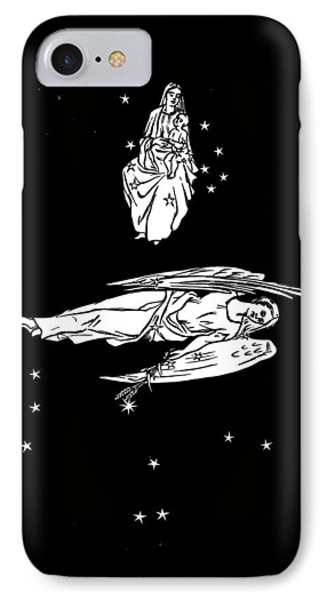 Virgo And Coma Constellations, Artwork Phone Case by