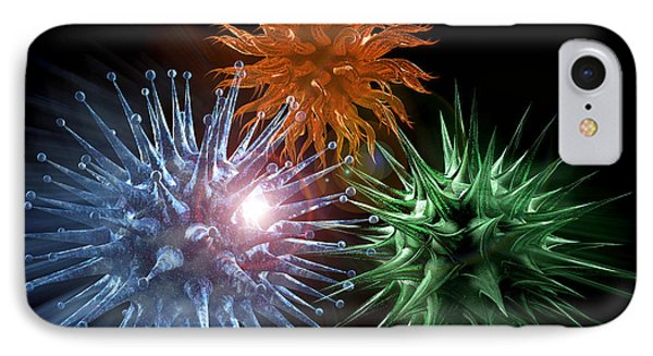 Viruses, Computer Artwork Phone Case by Laguna Design