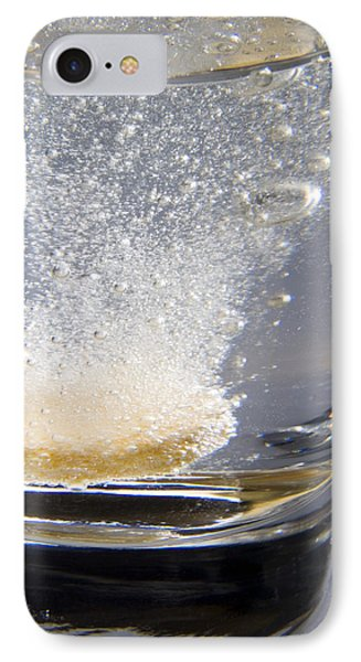 Vitamin Tablet Dissolving In Water Phone Case by Sheila Terry