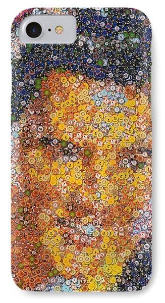 Viva Las Vegas Elvis Poker Chip Mosaic Phone Case by Paul Van Scott