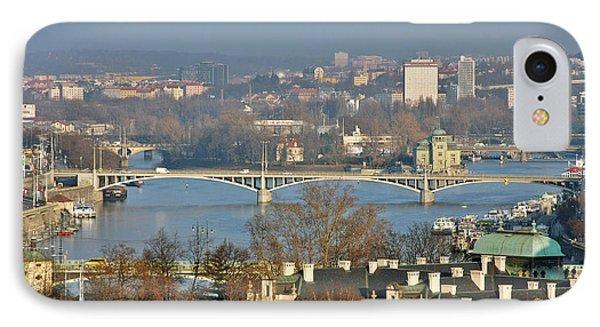 Vltava River In Prague - Tricky Laziness Phone Case by Christine Till