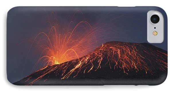 Vulcanian Eruption Of Anak Krakatau Phone Case by Richard Roscoe