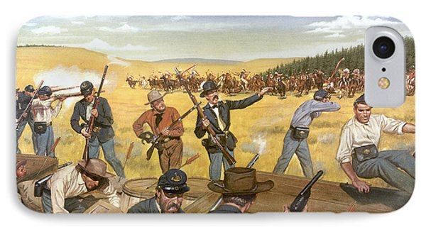 Wagon Box Fight, 1867 Phone Case by Granger
