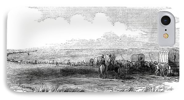 Wagon Train, 1859 IPhone Case by Granger