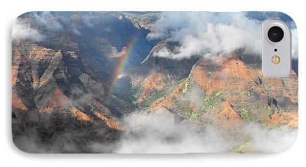 Waimea Canyon Rainbow Phone Case by Rebecca Margraf