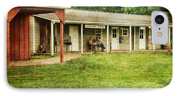 Waiting By The General Store Phone Case by Paul Ward