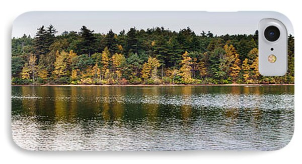 Walden Pond Panorama I Phone Case by Thomas Marchessault