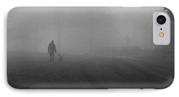 Walk The Dog IPhone Case by Maj Seda