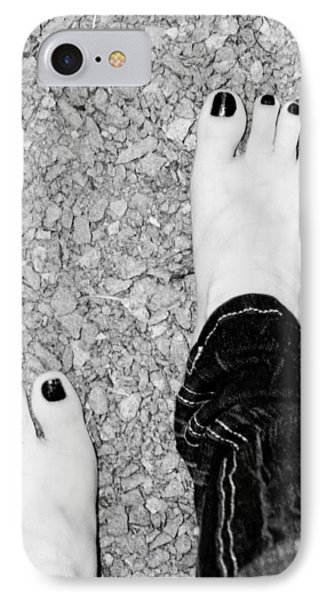 IPhone Case featuring the photograph Walking Barefoot by Ester  Rogers