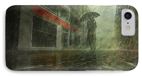 Walking In The Rain Phone Case by Carol and Mike Werner
