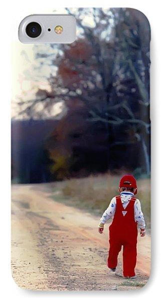 Walking On Pawpaw's Road IPhone Case by KG Thienemann