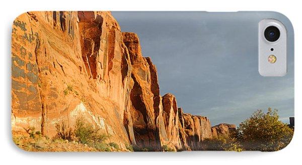 Wall Street Cliff Near Moab Phone Case by Gary Whitton