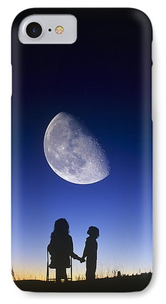Waning Gibbous Moon Phone Case by David Nunuk