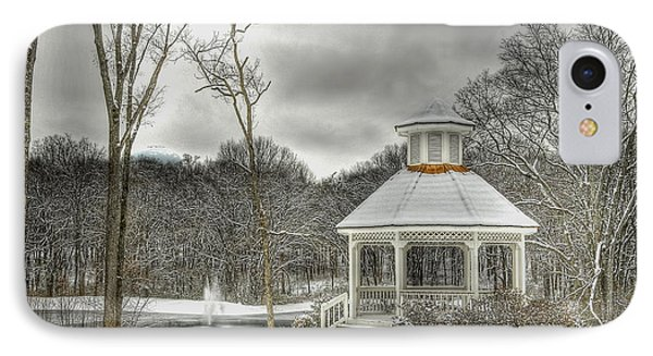 Warm Gazebo On A Cold Day IPhone Case by Brett Engle