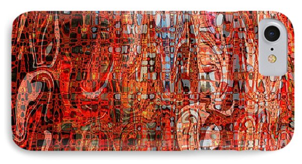 Warm Meets Cool - Abstract Art Phone Case by Carol Groenen
