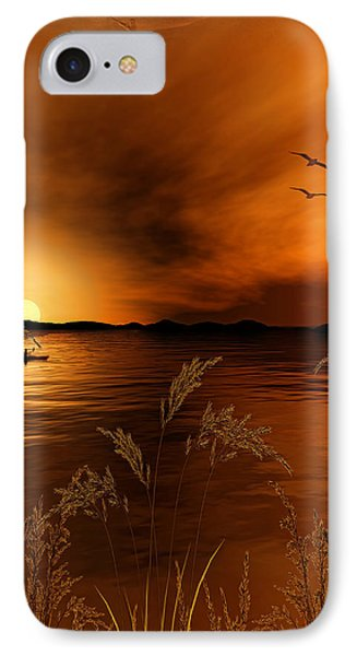 Warmth Ablaze - Gold Art IPhone Case by Lourry Legarde
