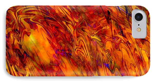 Warmth And Charm - Abstract Art IPhone Case by Carol Groenen