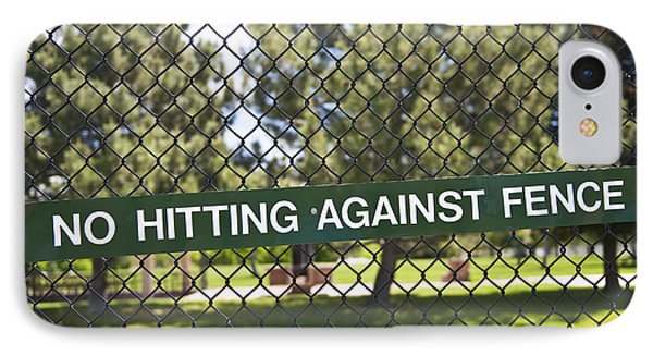 Warning Sign On Chain Fence Phone Case by Thom Gourley/Flatbread Images, LLC