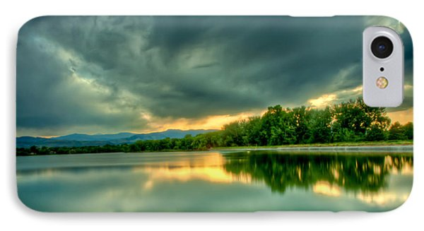 Warren Lake At Sunset IPhone Case by Anthony Doudt