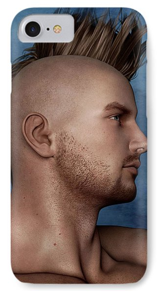IPhone Case featuring the painting Warrior Portrait by Maynard Ellis
