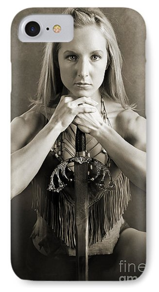Warrior Woman Phone Case by Cindy Singleton