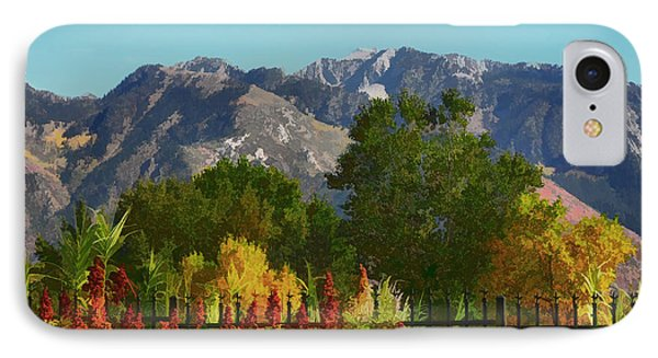 Wasatch Mountains In Autumn Painting Phone Case by Tracie Kaska