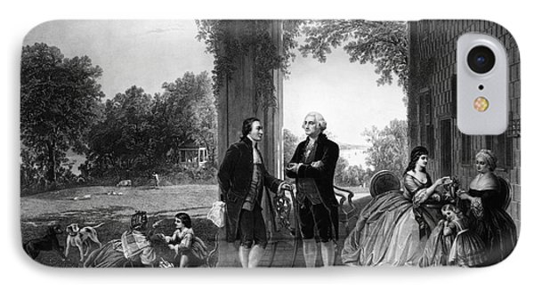 Washington And Lafayette, Mount Vernon IPhone Case by Library of Congress